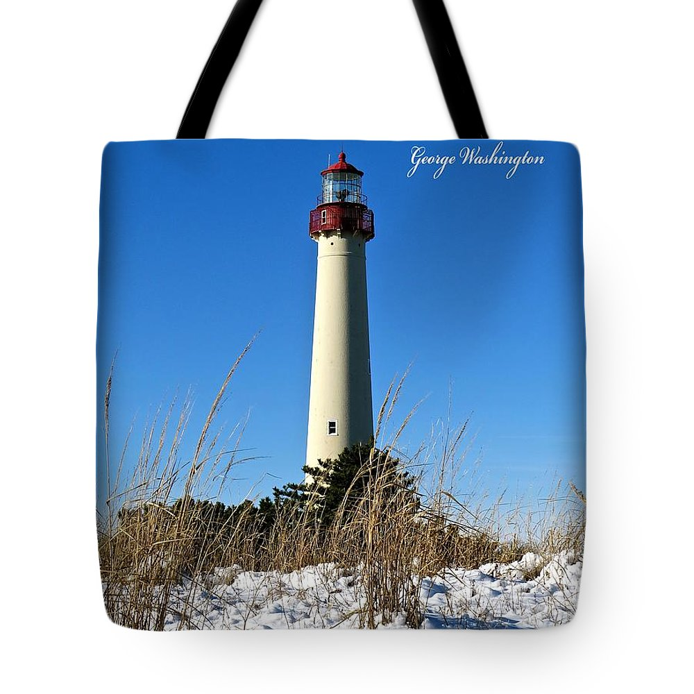 Cape May Lighthouse Tote Bag featuring the photograph Bring Truth To Light by Nancy Patterson