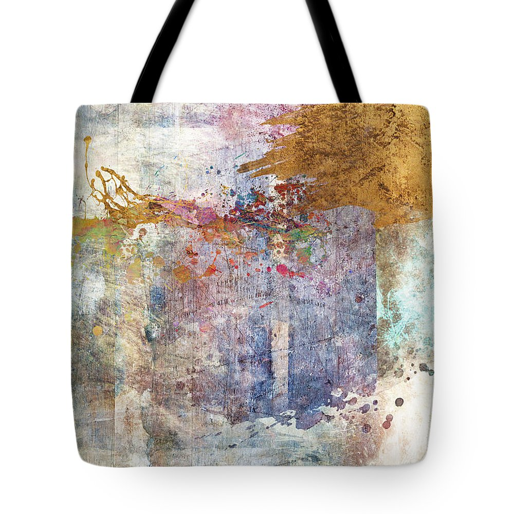 Abstract Tote Bag featuring the digital art Bring Wine by Aimee Stewart