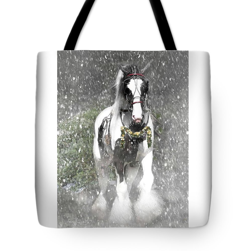 Christmas Tote Bag featuring the photograph Bringing home the Christmas Tree by Fran J Scott