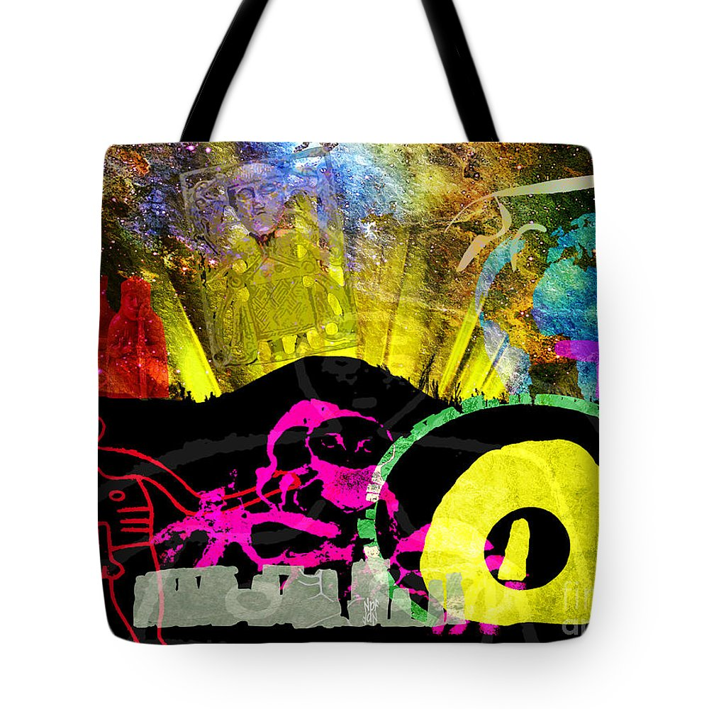 Britain Tote Bag featuring the painting Britain Land Of Custom Myth Legend by Neil Finnemore