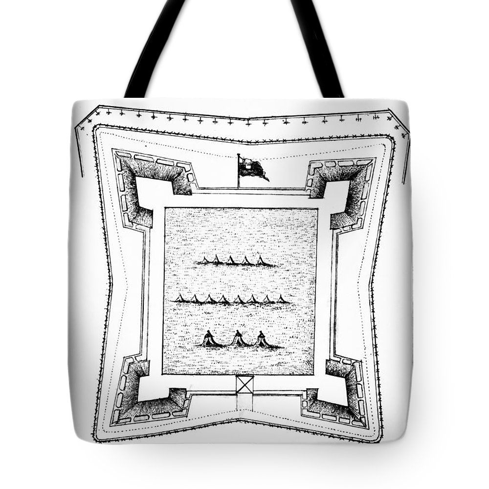 1770s Tote Bag featuring the photograph British Redoubt, 1777 by Granger