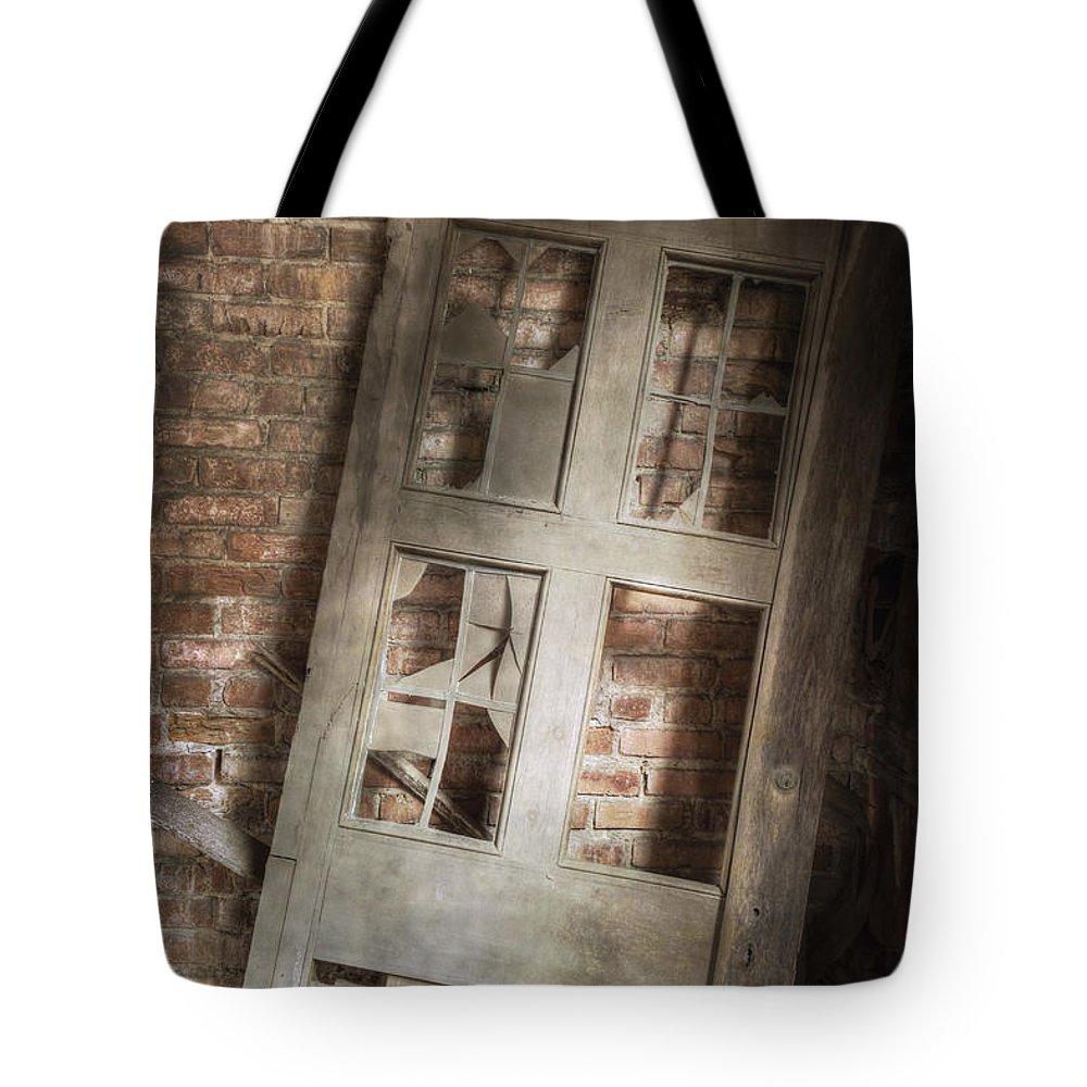 Door Tote Bag featuring the photograph Broken And Broken by Margie Hurwich