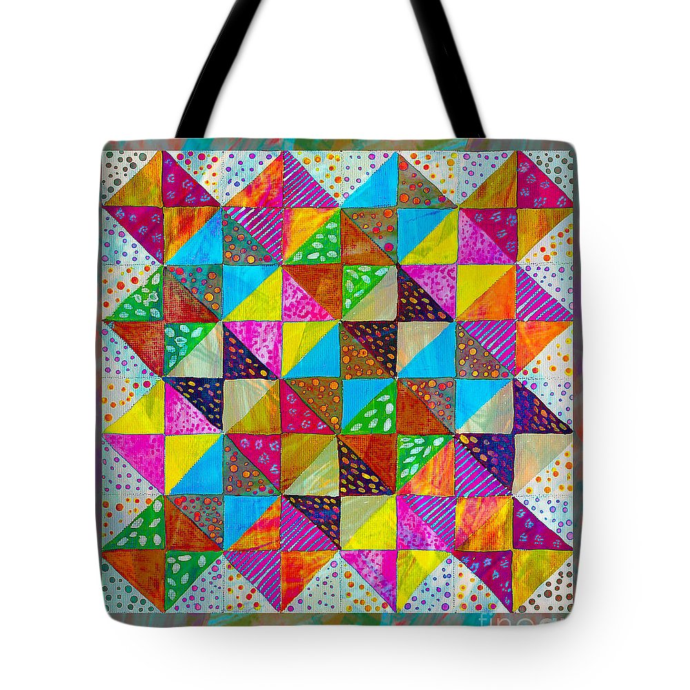 Broken Dishes Quilt Pattern Painting 2 Tote Bag