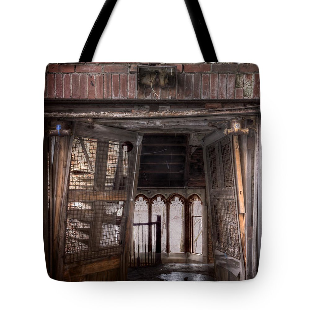 House Tote Bag featuring the photograph Broken Entry by Margie Hurwich