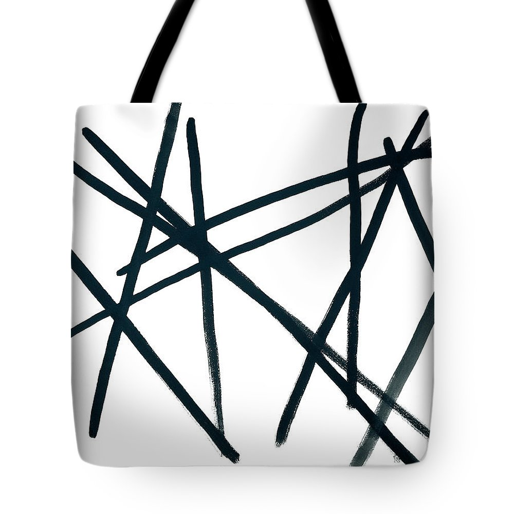 Contemporary Tote Bag featuring the painting Broken Fence by Bjorn Sjogren