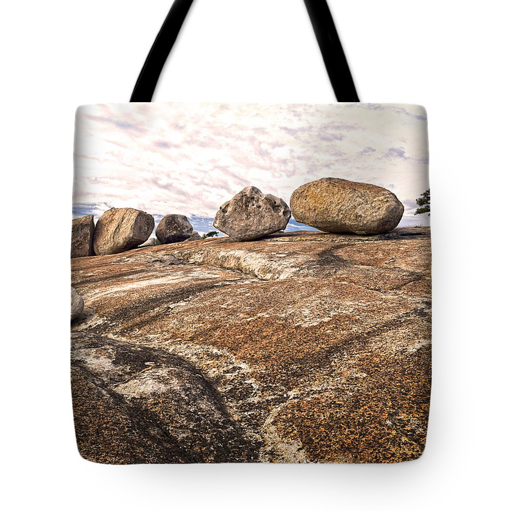 Bald Rock Dome Tote Bag featuring the photograph Broken Glacial Erratics by Frank Wilson