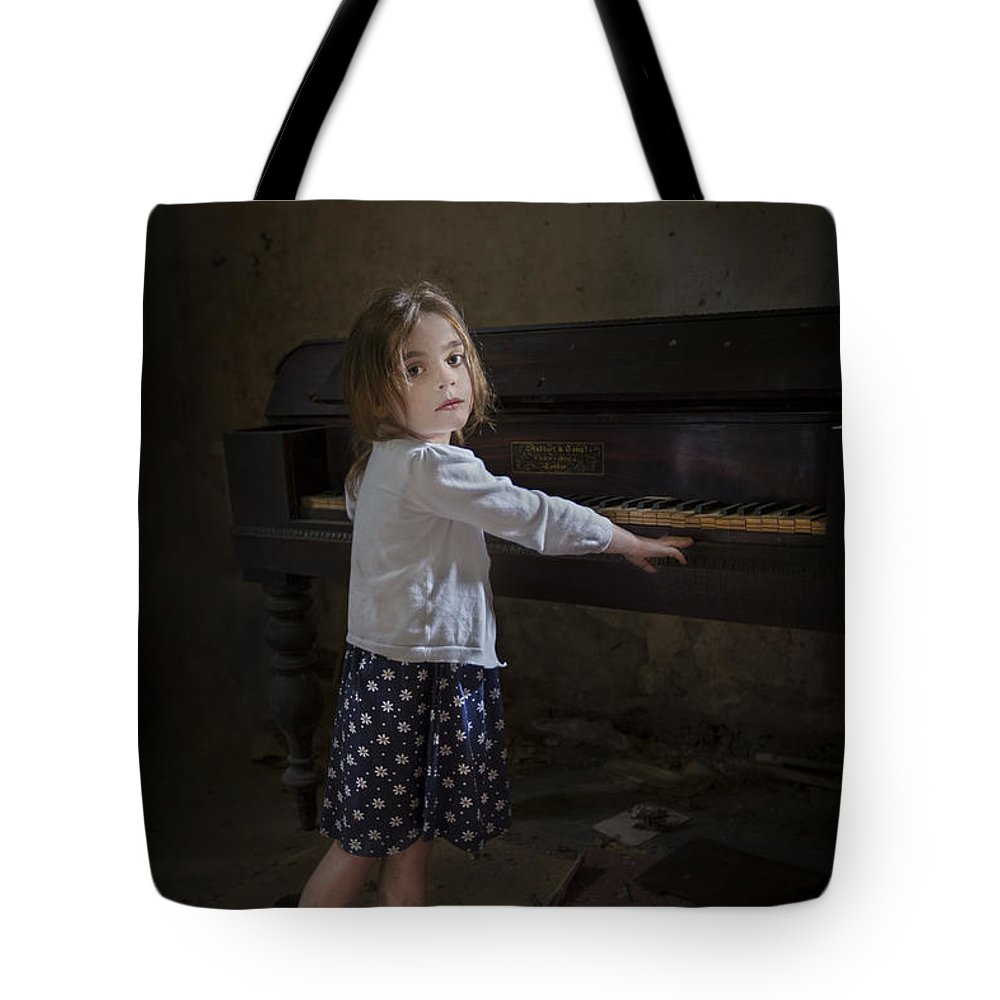 Girl Tote Bag featuring the photograph Broken Hearted Melody by Evelina Kremsdorf