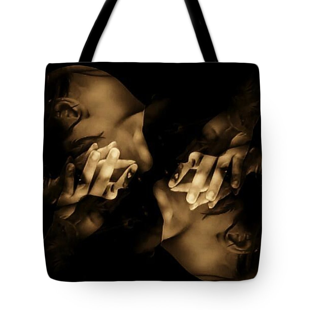 Sepia Tote Bag featuring the photograph Broken Mirage by Jessica Shelton