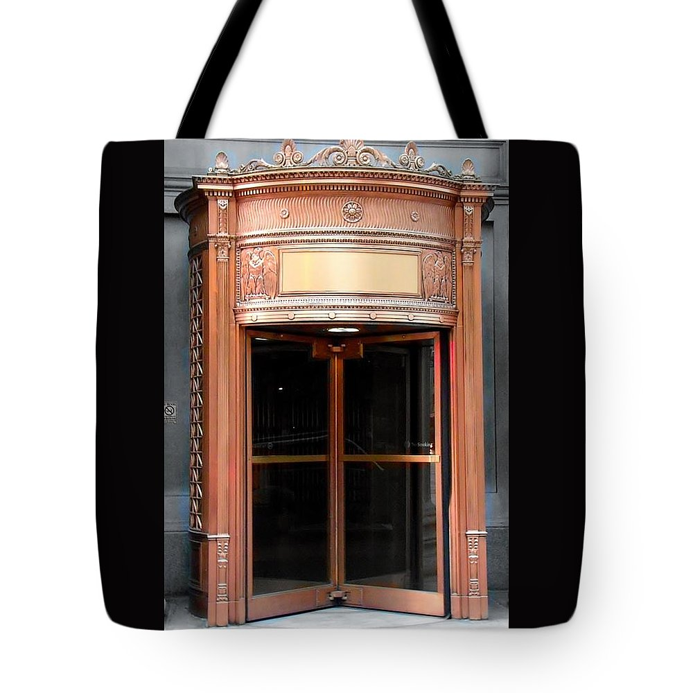 Cleveland Tote Bag featuring the photograph Bronze Doors by Wendy Gertz