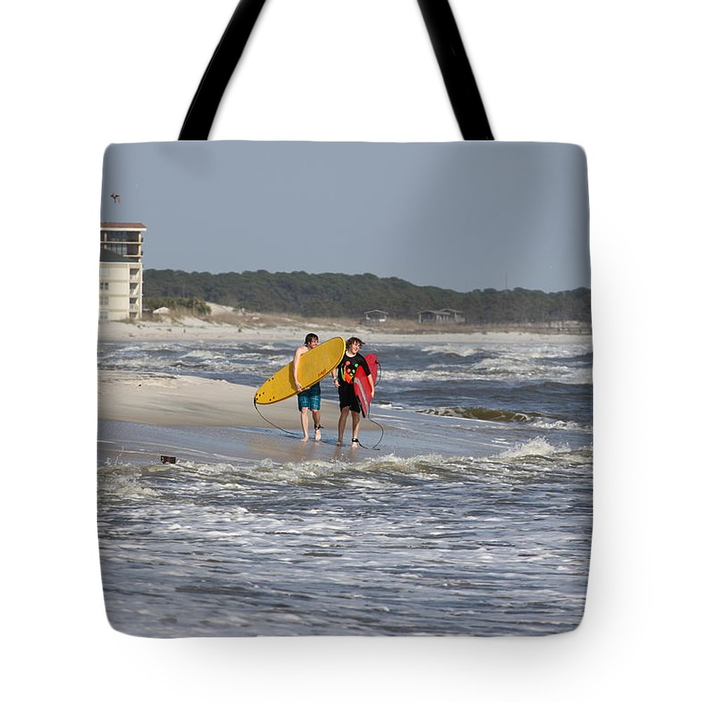 Beach Tote Bag featuring the photograph Brothers by David Mayeau