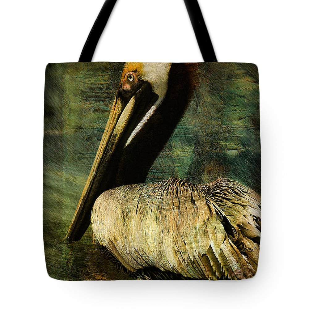 Pelican Tote Bag featuring the photograph Brown Pelican Beauty by Deborah Benoit