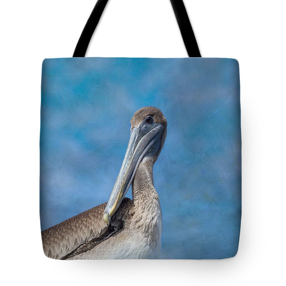 Pelican Tote Bag featuring the photograph Brown Pelican by Kim Hojnacki