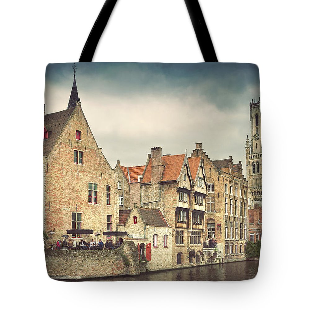 Tranquility Tote Bag featuring the photograph Brugge by Ellen Van Bodegom