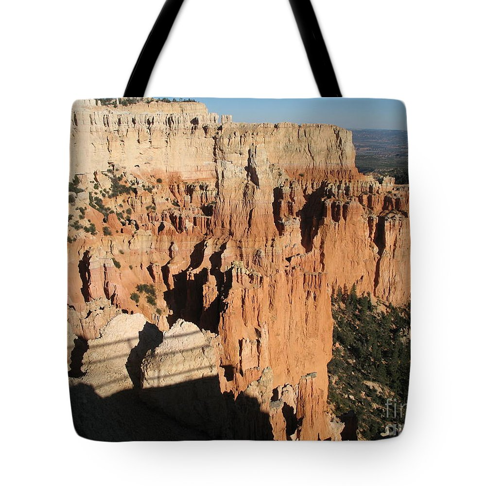 Rocks Tote Bag featuring the photograph Bryce Canyon Hoodoos by Christiane Schulze Art And Photography