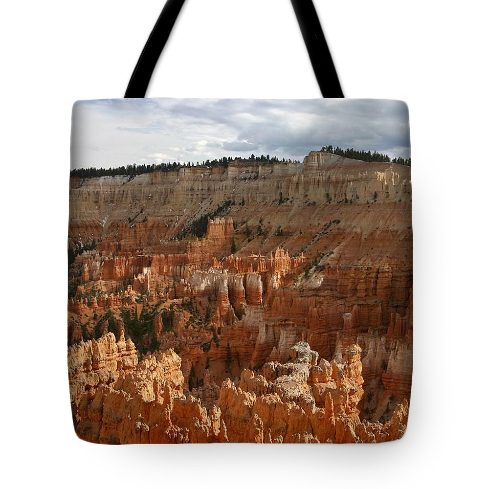 Bryce Canyon Hoodoos Tote Bag featuring the photograph Bryce Canyon Hoodoos by Wes and Dotty Weber