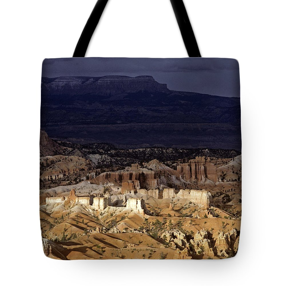 Landscape Tote Bag featuring the photograph Bryce Canyon National Park Hoodo Monoliths Sunset Southern Utah by Jim Corwin