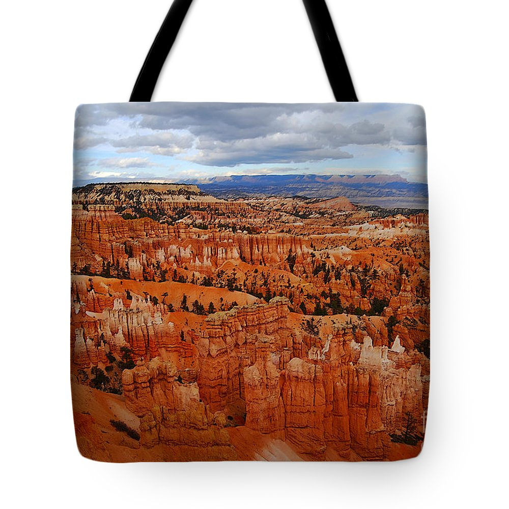 Bryce Canyon Tote Bag featuring the photograph Bryce Canyon Overlook by Catherine Sherman