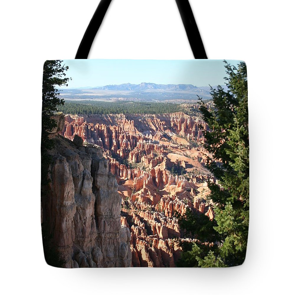 Canyon Tote Bag featuring the photograph Bryce Canyon Overview by Christiane Schulze Art And Photography
