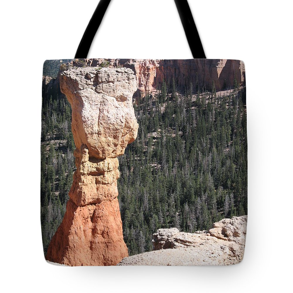 Canyon Tote Bag featuring the photograph Interesting Bryce Canyon Rockformation by Christiane Schulze Art And Photography