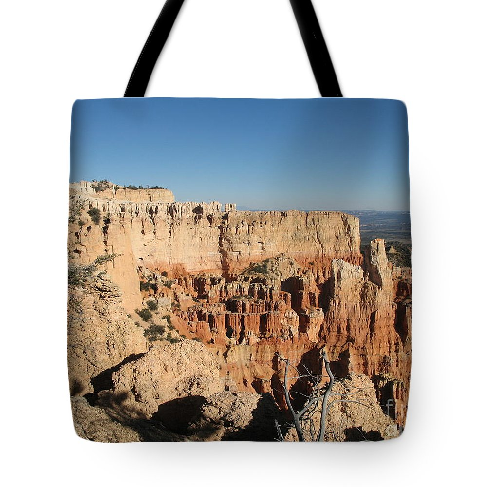 Rocks Tote Bag featuring the photograph Bryce Canyon Scenic View by Christiane Schulze Art And Photography