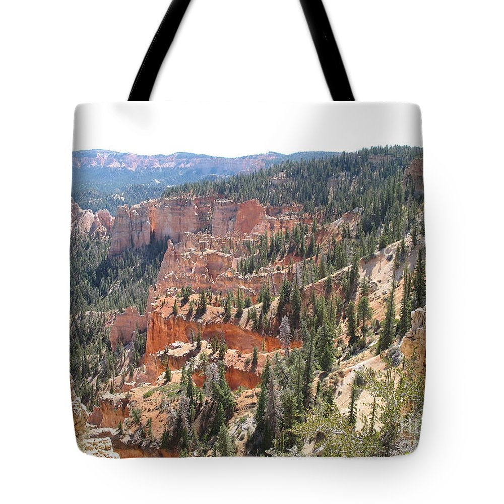 Rocks Tote Bag featuring the photograph Bryce Canyon View by Christiane Schulze Art And Photography