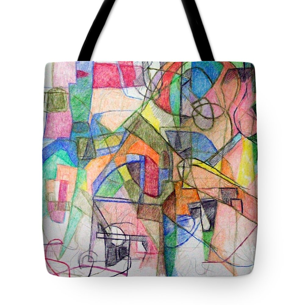 Torah Tote Bag featuring the drawing bSeter Elyion 28 by David Baruch Wolk