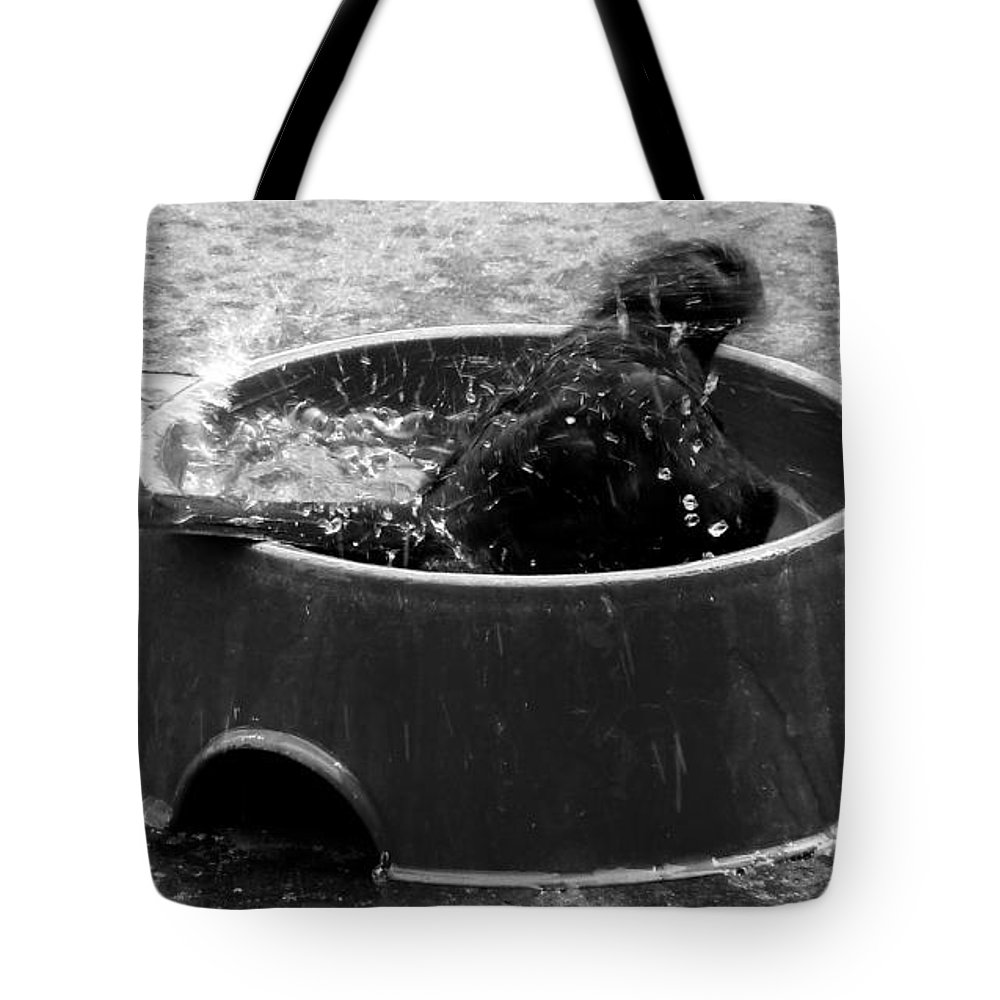 Bubble Tote Bag featuring the photograph Bubble Bath by Steve Taylor