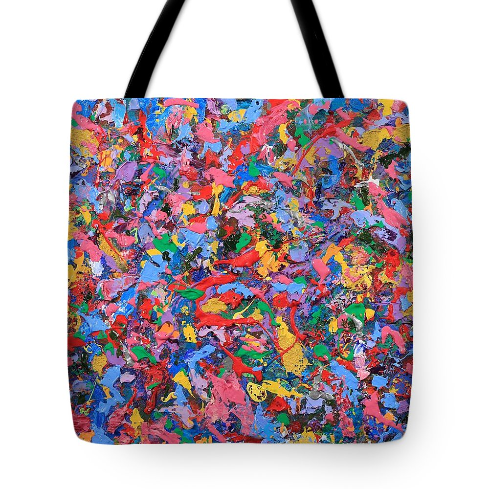 Abstract Tote Bag featuring the painting Bubble Gum Girl by David Mayeau