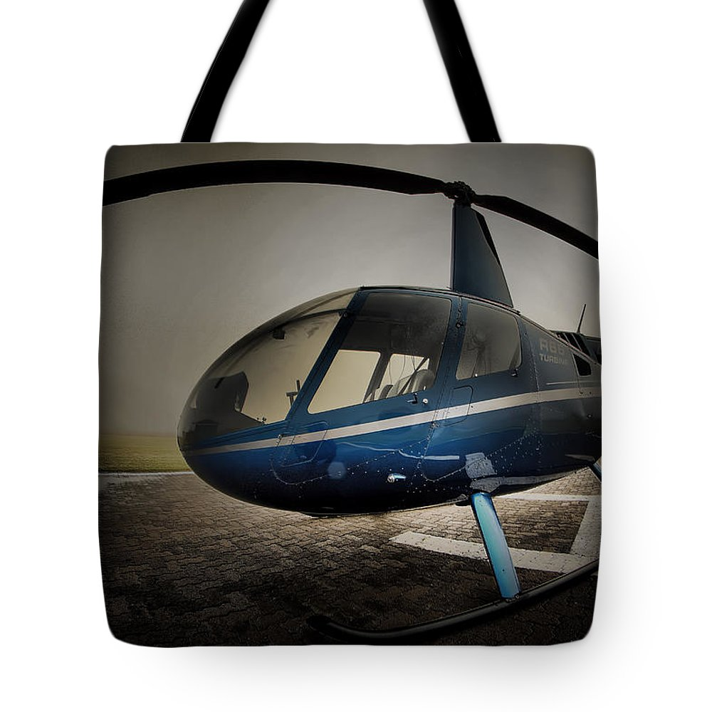 Robinson R66 Tote Bag featuring the photograph Bubble by Paul Job