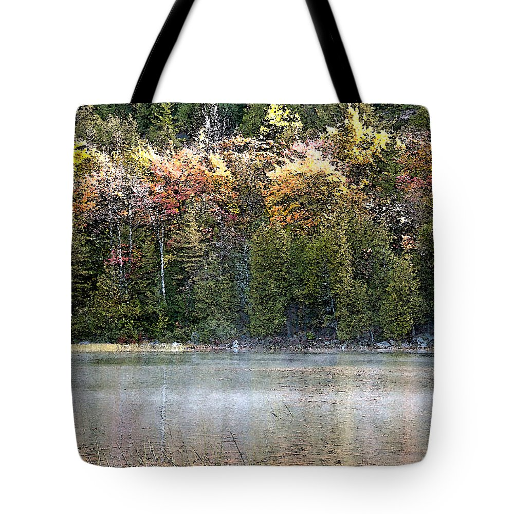 Bubble Pond Tote Bag featuring the photograph Bubble Pond Acadia National Park by Glenn Gordon