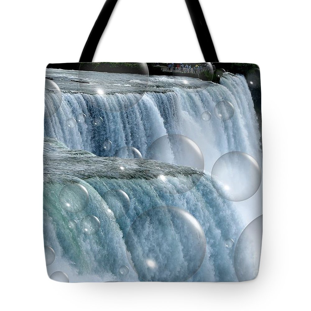 Bubbles Tote Bag featuring the photograph Bubbles Over Niagara Falls by Rose Santuci-Sofranko