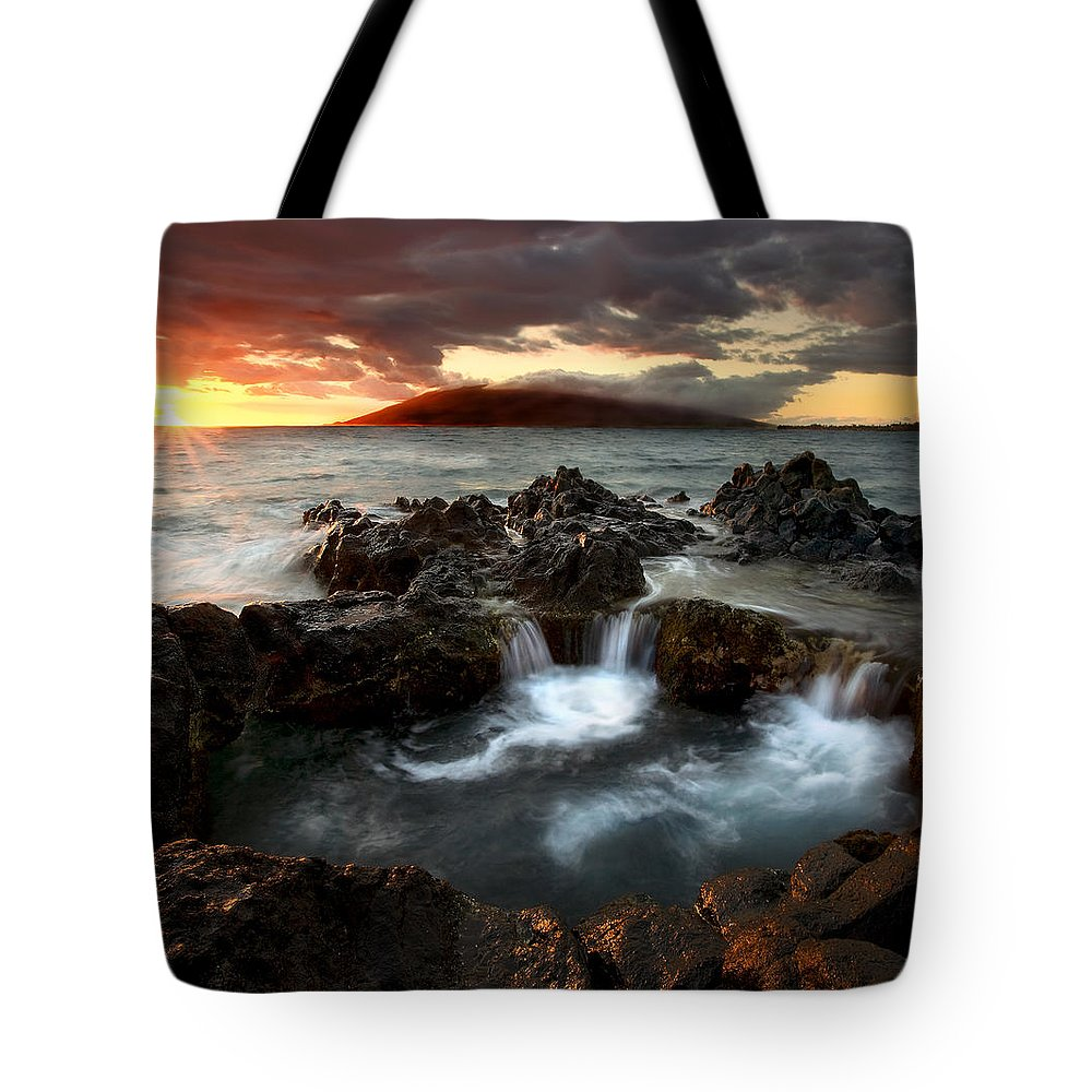 Sunset Tote Bag featuring the photograph Bubbling Cauldron by Mike Dawson