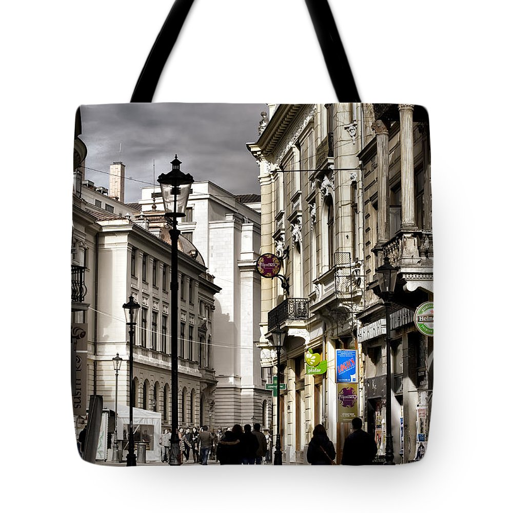 Bucharest Tote Bag featuring the photograph Bucharest The Little Paris by Daliana Pacuraru