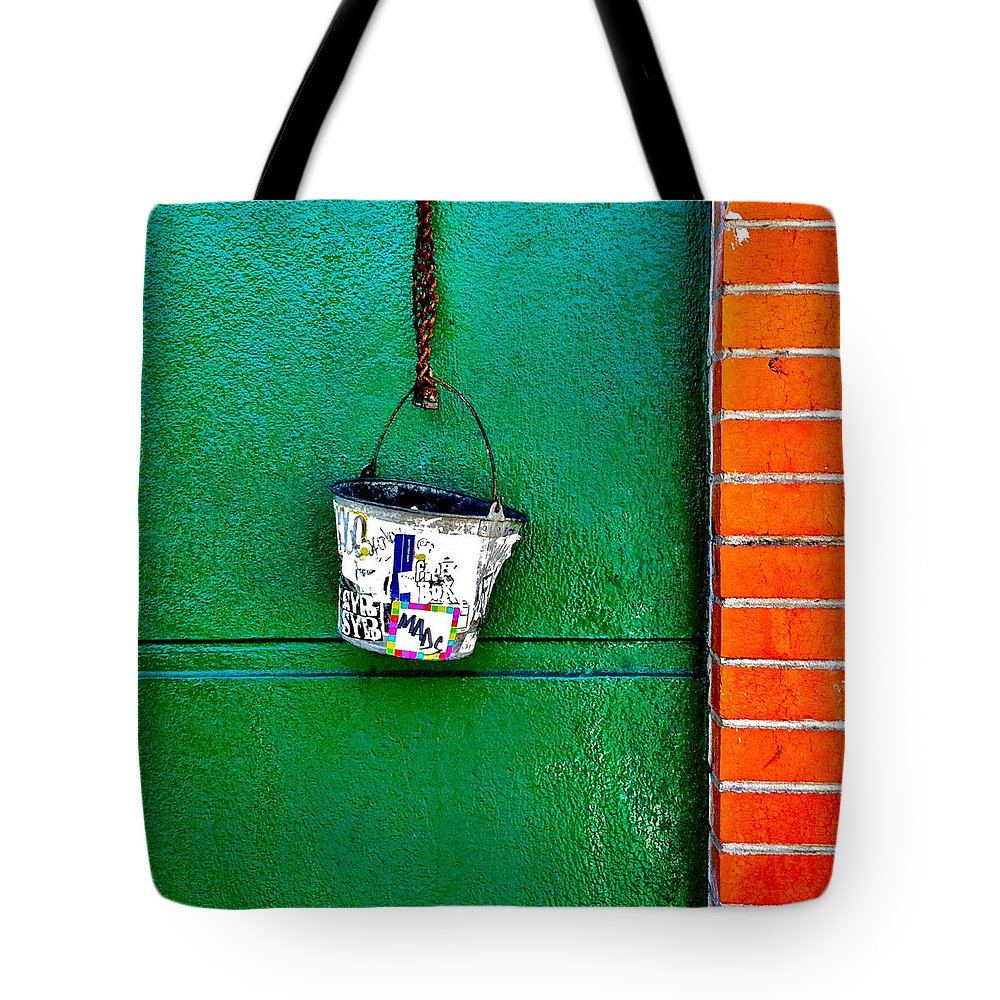 Tote Bag featuring the photograph Bucket by Julie Gebhardt
