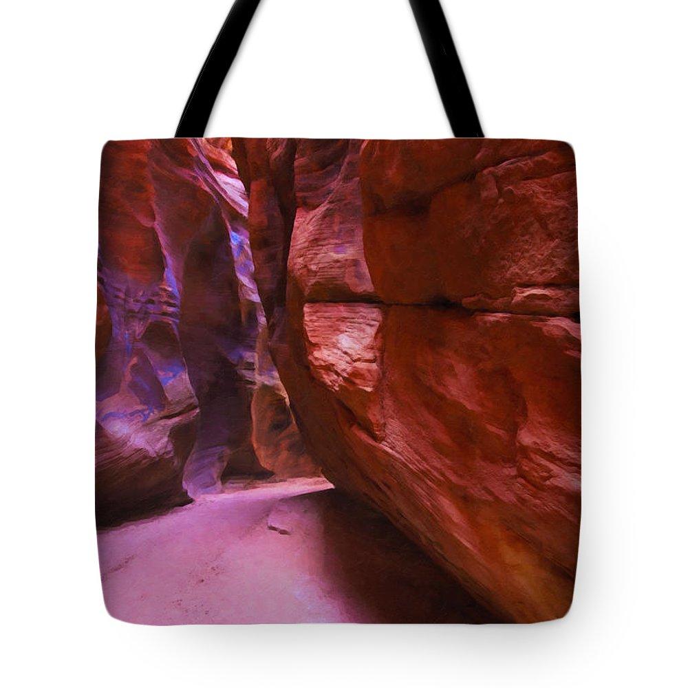 Beautyinnature Tote Bag featuring the photograph Buckskin Gulch 15 by Ingrid Smith-Johnsen
