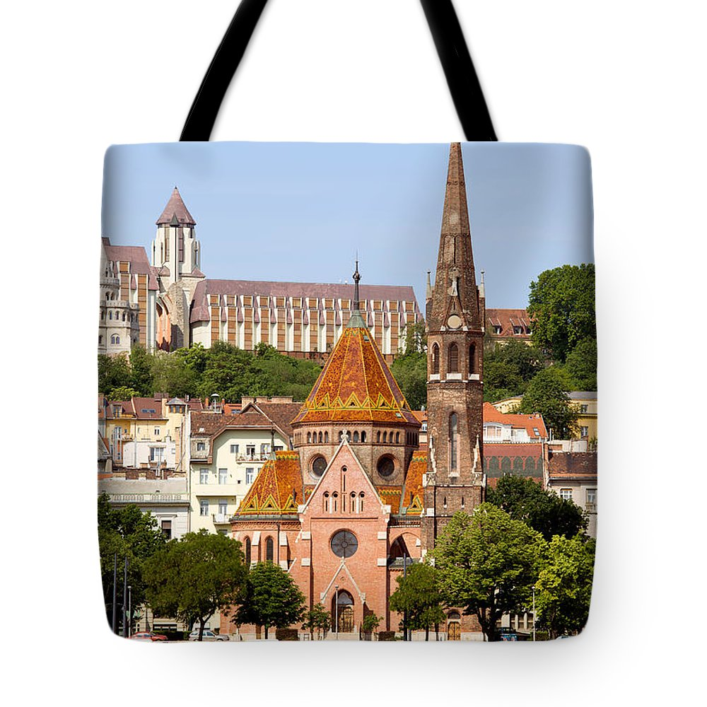 Budapest Tote Bag featuring the photograph Buda Reformed Church In Budapest by Artur Bogacki