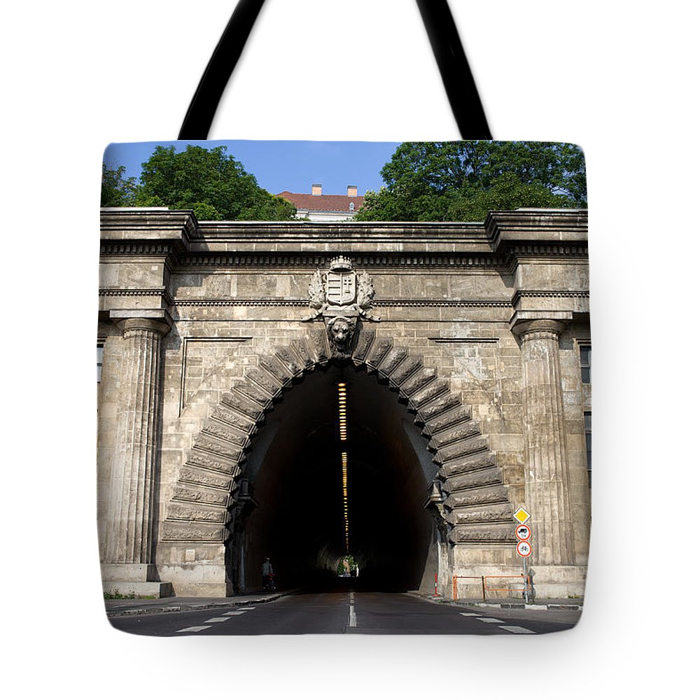 Buda Tote Bag featuring the photograph Buda Tunnel In Budapest by Artur Bogacki
