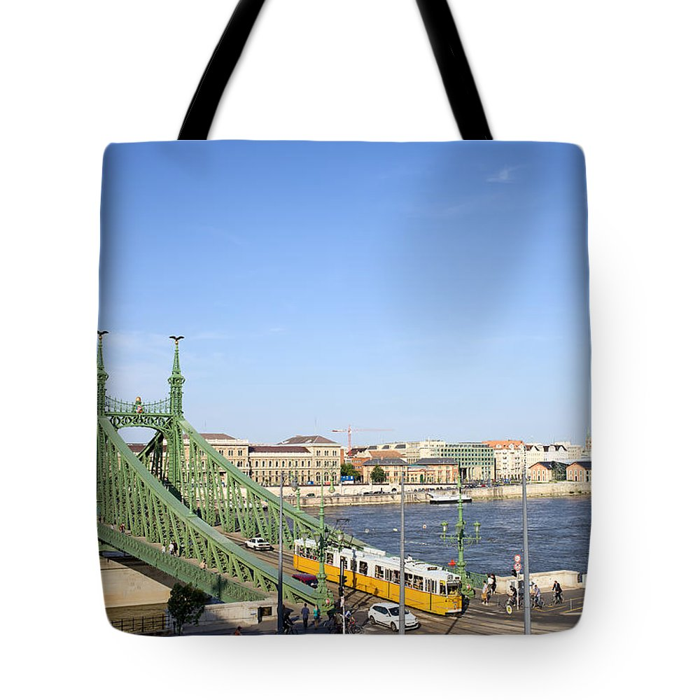 Budapest Tote Bag featuring the photograph Budapest Cityscape And Liberty Bridge by Artur Bogacki