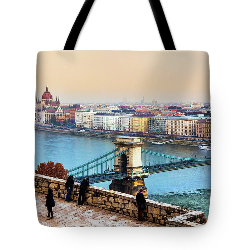 Hungarian Parliament Building Tote Bag featuring the photograph Budapest - Hungarian Pastels by John And Tina Reid