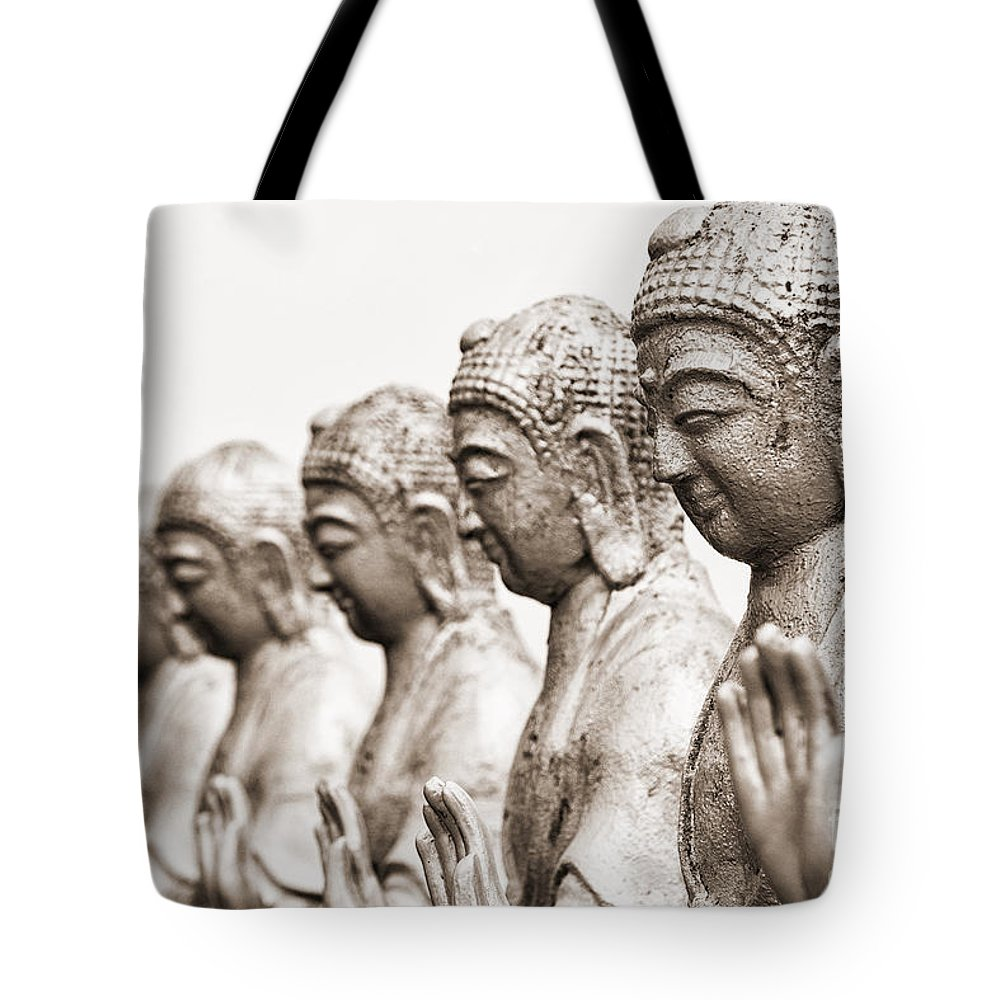 Taiwan Tote Bag featuring the photograph Buddha Statue by Yew Kwang