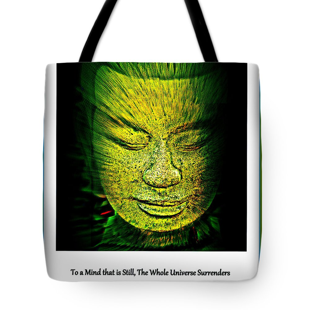 Buddha Tote Bag featuring the photograph Buddhas Mind II by Susanne Van Hulst