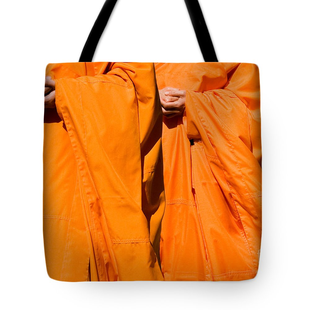 Buddhist Monk Tote Bag featuring the photograph Buddhist Monks 02 by Rick Piper Photography