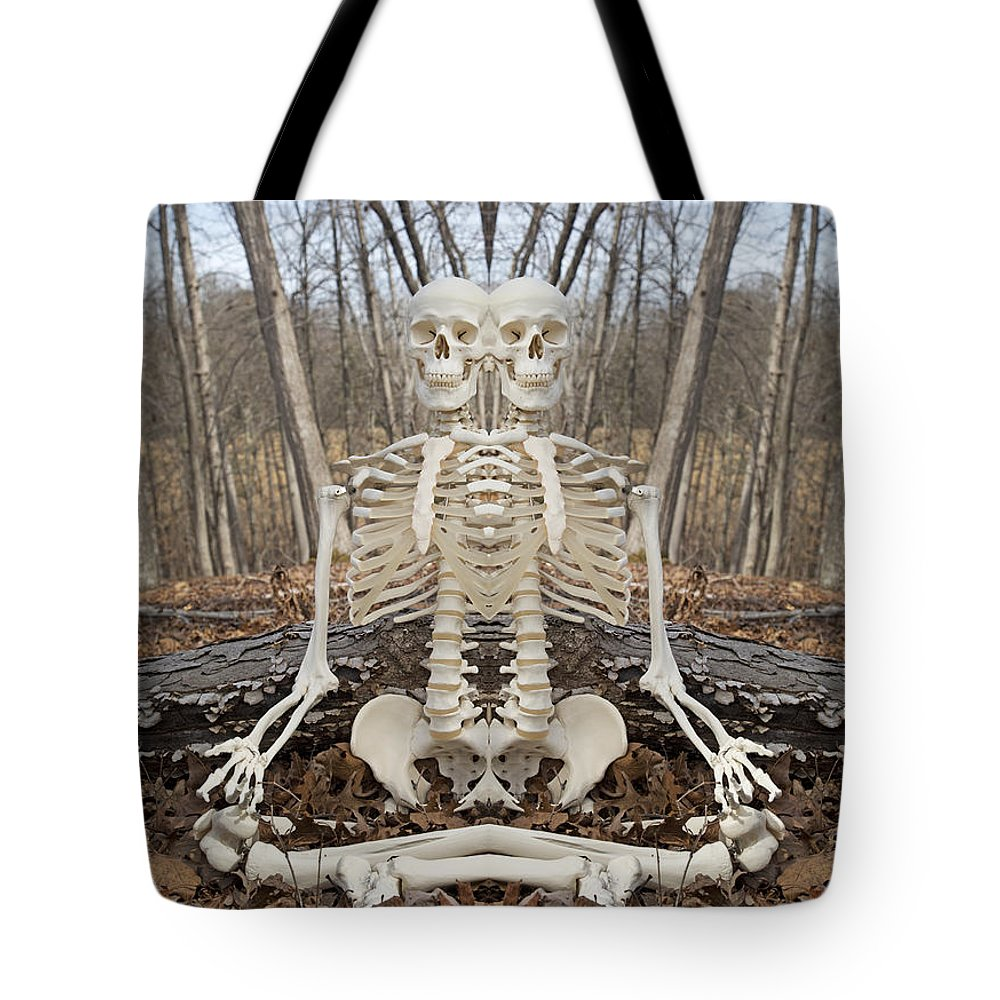 Skeleton Tote Bag featuring the photograph Budding Buddies by Betsy Knapp