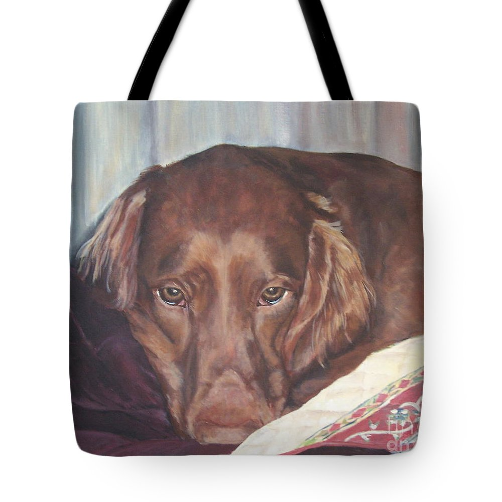 Dogs Tote Bag featuring the painting Buddy by Elizabeth Ellis