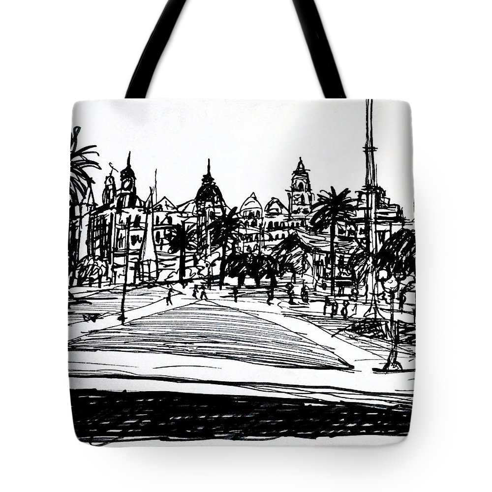 Buenos Aires Tote Bag featuring the drawing Buenos Aires Argentina by Paul Sutcliffe