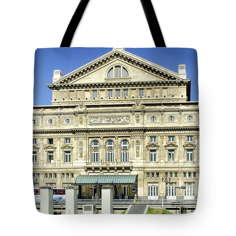 Opera House Tote Bag featuring the photograph Buenos Aires Opera House - Argentina - by Jon Berghoff