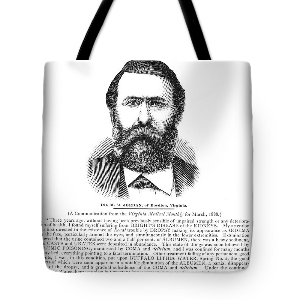 1890 Tote Bag featuring the photograph Buffalo Lithia Water, 1890 by Granger