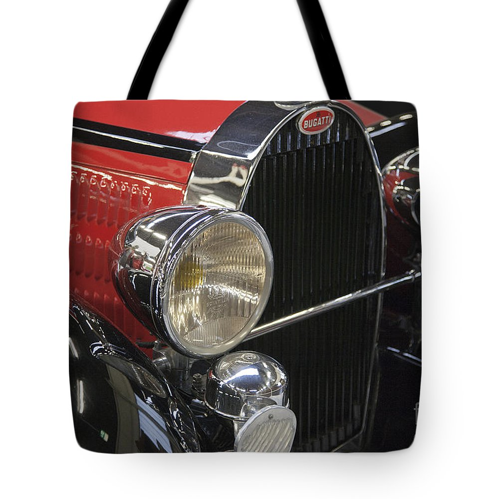 Heiko Tote Bag featuring the photograph Bugatti Typ 57 Of 1935 Classic Car by Heiko Koehrer-Wagner
