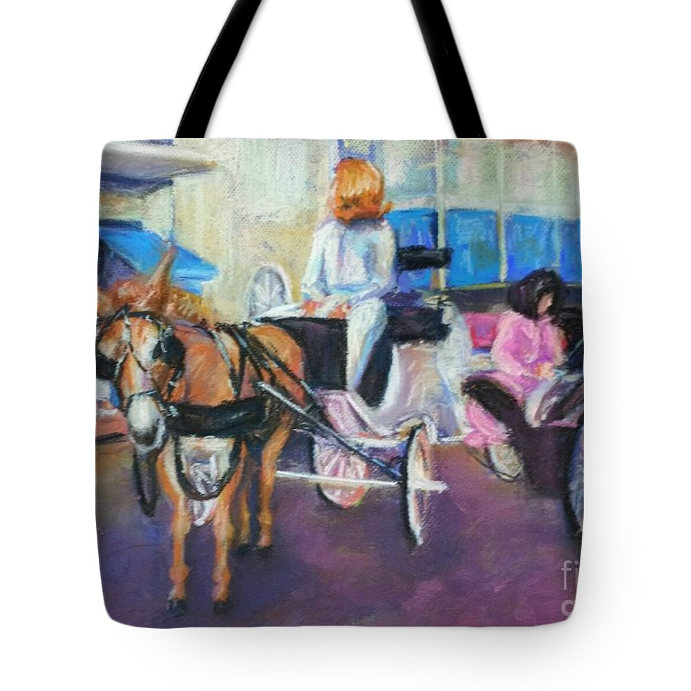 New Orleans Tote Bag featuring the painting Buggy On Bourbon Street by Beverly Boulet