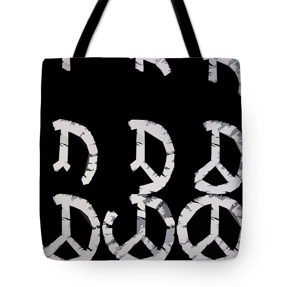 Peace Tote Bag featuring the digital art Build Up Peace by Michelle Calkins